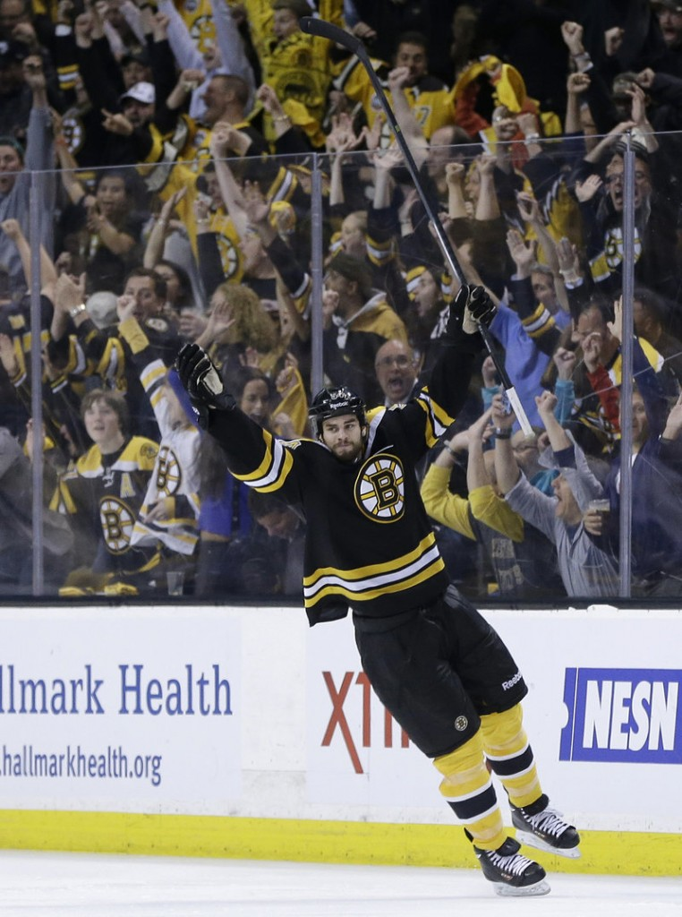 Adam McQuaid doesn't score many goals for the Boston Bruins, but Friday night he got one he'll never forget, clinching the conference finals with a 1-0 victory against the Pittsburgh Penguins.