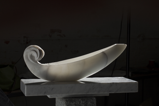"""""""Lucent Journey,"""" marble, by Constance Rush."""