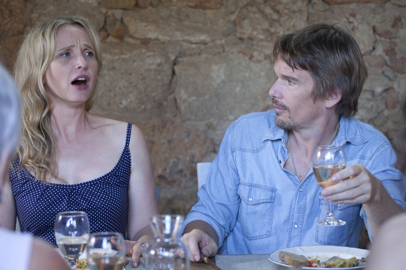 """Julie Delpy and Ethan Hawke in """"Before Midnight."""""""