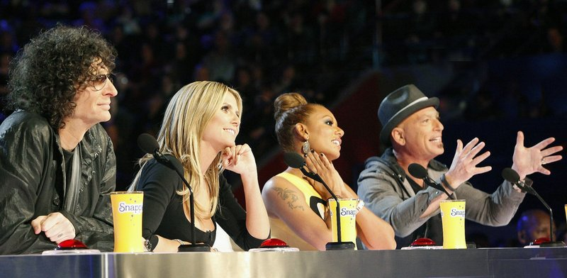 """Howard Stern, left, Heidi Klum, Mel B. and Howie Mandel are the judges on NBC's """"America's Got Talent,"""" which this month launched its eighth season. Klum and Mel B. are the two new panelists this year."""