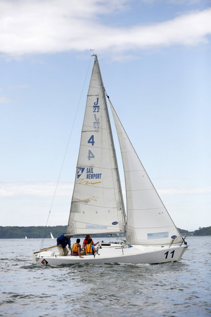 The fleet of a dozen J-22s came to Portland via Sail Newport, New England's largest public sailing center, and for the bargain price of $180,000.
