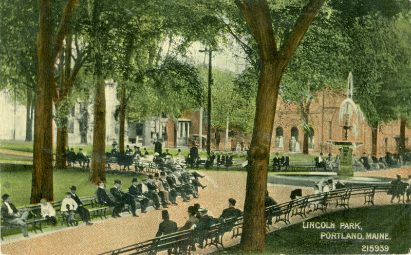 Lincoln Park in Portland, as it appeared circa 1910.