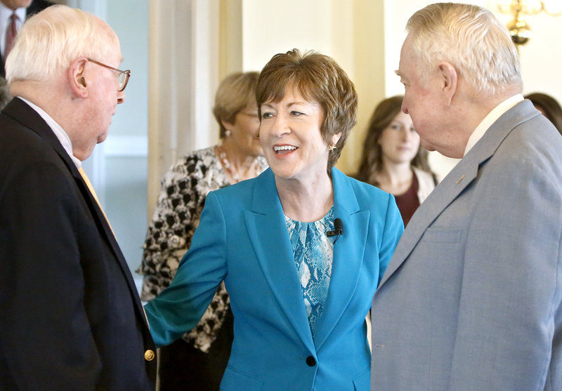 Maine's U.S. Sen. Susan Collins defended the National Security Agency's phone data collection program Friday, saying the effort has stopped terrorist attacks and can operate without violating Americans' privacy and constitutional rights.