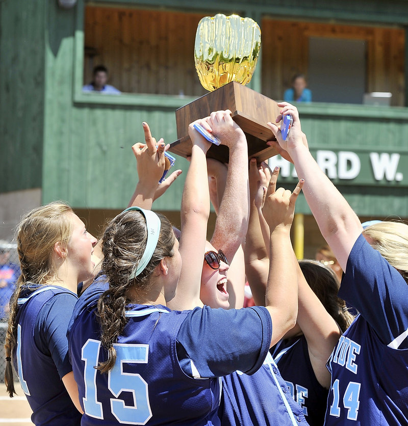 There's a first time for everything and for Oceanside, the school created from the merger of Rockland and Georges Valley, the first state title came in softball.