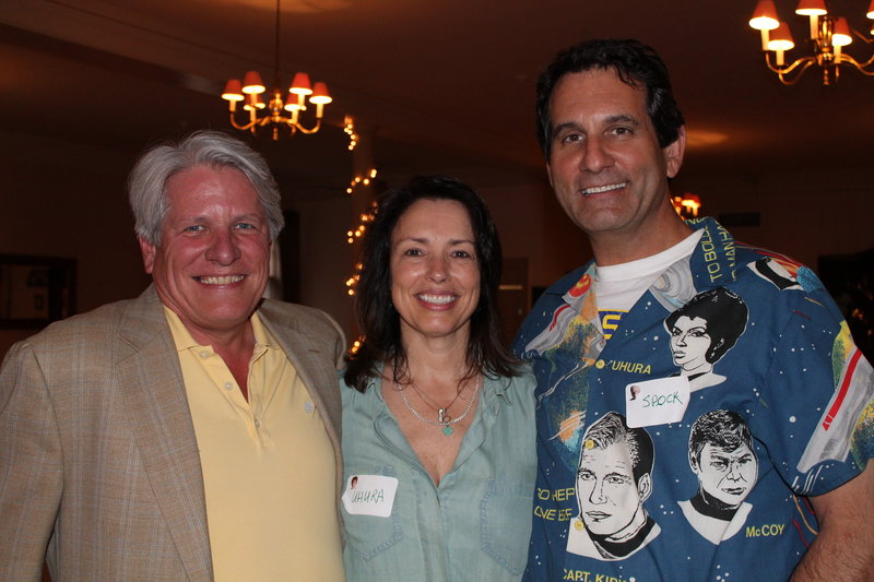 Sam Surprise, owner of Surprise Advertising in Portland, with Pam and Alex Kemp, partners at Kemp Goldberg, also in Portland, at the Ad Club of Maine's end-of-year celebration at The Portland Club.