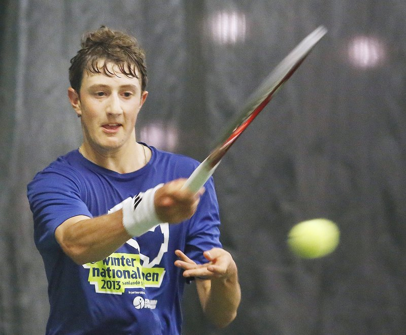 Jordan Friedland, Lincoln Academy's valedictorian, didn't come close to losing a set in any of his five matches on the way to his second straight state singles championship.
