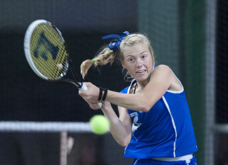 Though only a sophomore, Olivia Leavitt took on a leadership role this year for a Falmouth program that has won six straight Class B state championships.