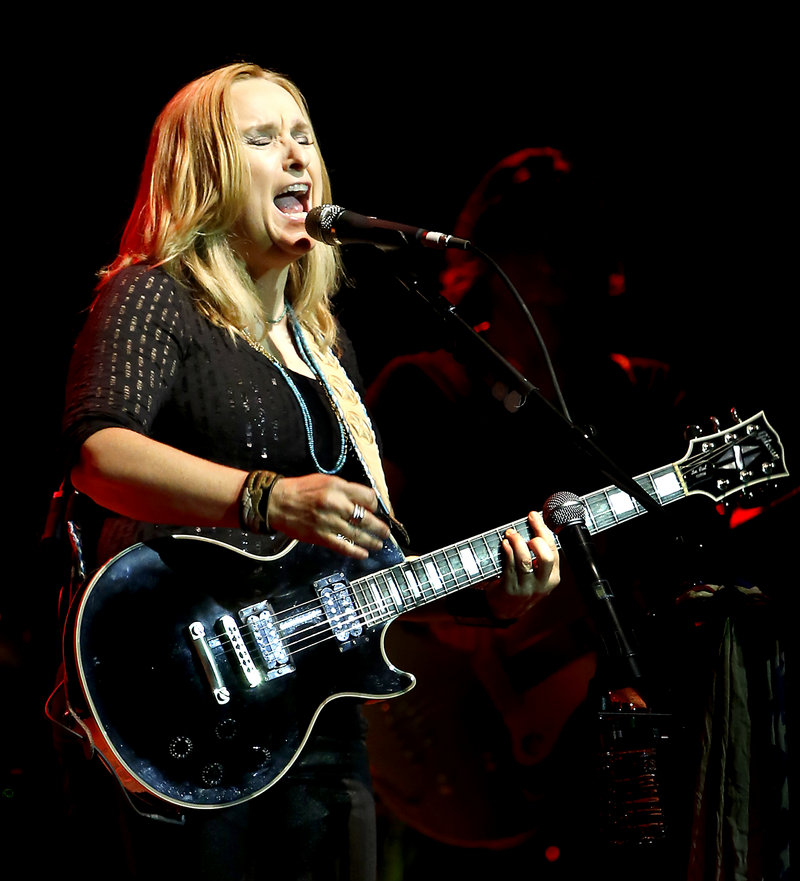 Melissa Etheridge performs Saturday night at the State Theatre in Portland, where she offered two hours of songs.