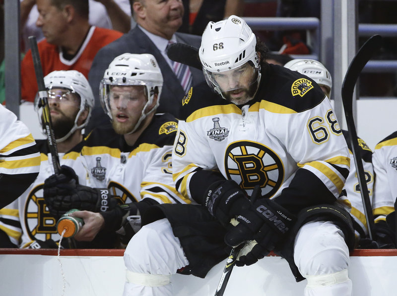 Jaromir Jagr and his Bruins teammates are trailing 3-2 in the Stanley Cup finals and will be facing elimination when the series returns to the TD Garden Monday for Game 6.