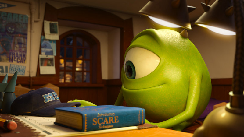 """""""Mike,"""" voiced by Billy Crystal, appears in a scene from the weekend's box office fave, """"Monsters University."""""""
