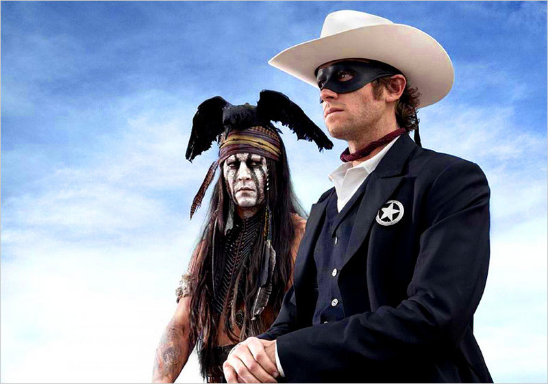 """Johnny Depp and Armie Hammer are Tonto and the Lone Ranger in a new adaptation of """"The Lone Ranger."""""""