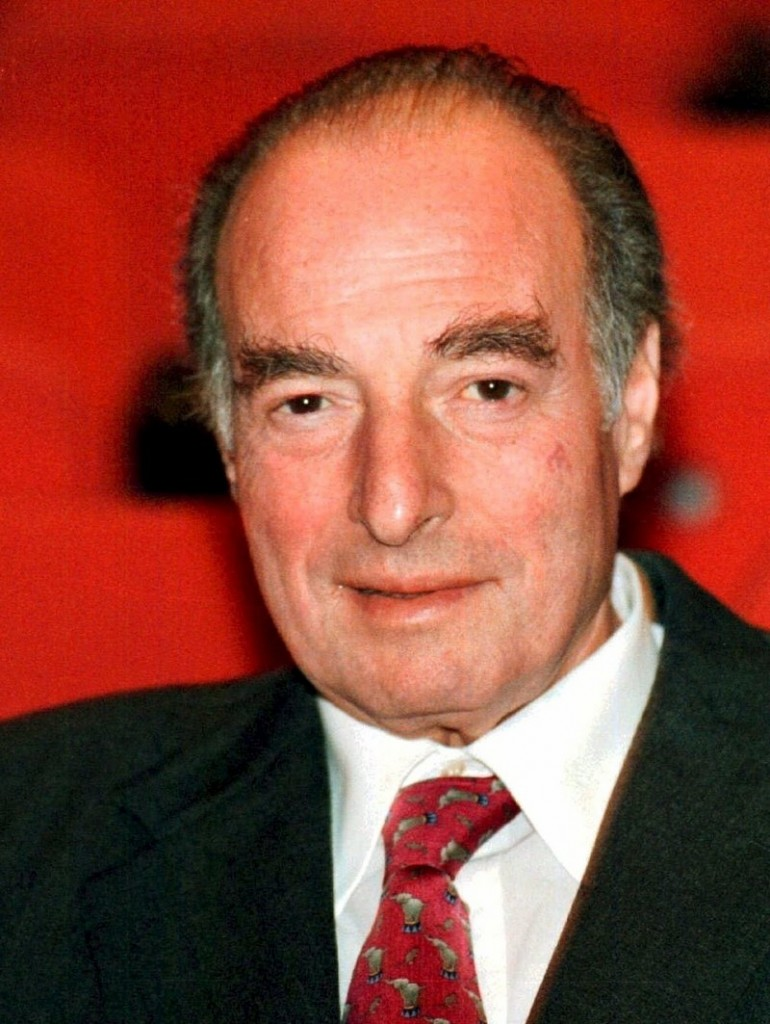 This is a Nov. 30, 1998 file photo of financier Marc Rich shown in in Zug, central Switzerland. An associate of Marc Rich said Wednesday June 26, 2013, that the trader pardoned by President Clinton has died in Switzerland.(AP Photo/Guido Roeoesli File)