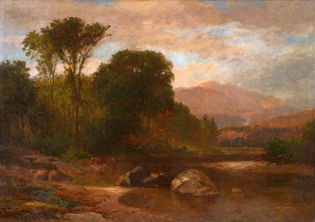 """""""Mount Washington from the Saco"""" by Samuel Lancaster Gerry."""