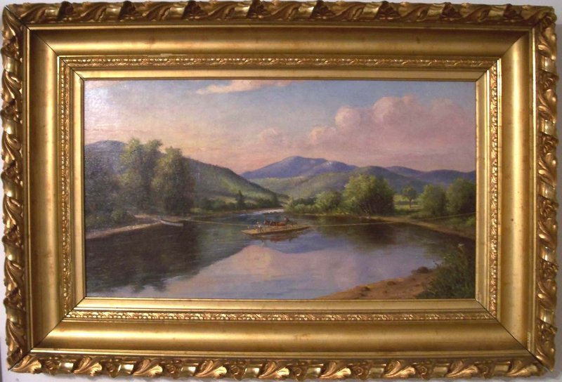 """""""Kendall's Ferry on the Androscoggin, Bethel"""" by Delbert Dana Coombs."""