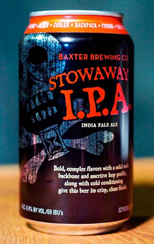Stowaway IPA is Baxter Brewing's most popular beer, accounting for about 60 percent of sales.