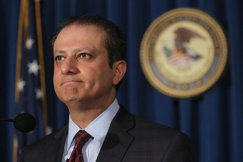 U.S. Attorney for the Southern District of New York Preet Bharara speaks during a news conference Thursday in New York. SAC Capital, the hedge fund operated by embattled billionaire Steven A. Cohen, was hit with white-collar criminal charges Thursday that accused the fund of making hundreds of millions of dollars illegally, and a related government lawsuit said insider trading was pervasive and unprecedented at the firm.
