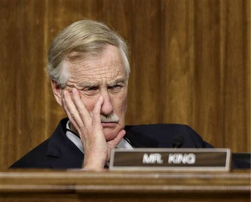 Sen. Angus King, I-Maine, a former governor, listens to testimony during hearing on Capitol Hill in Washington in January. Several former governors who are now senators are known for their work across the aisle even if their efforts are not always successful.