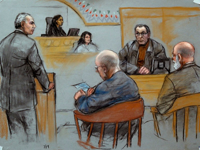 This courtroom sketch depicts Stephen