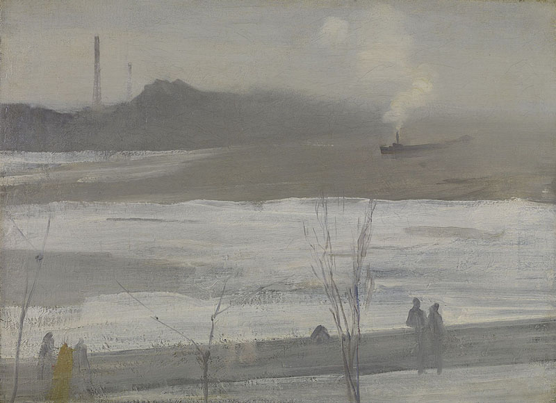 "James McNeill Whistler, ""Chelsea in Ice"" (1864), oil on canvas"