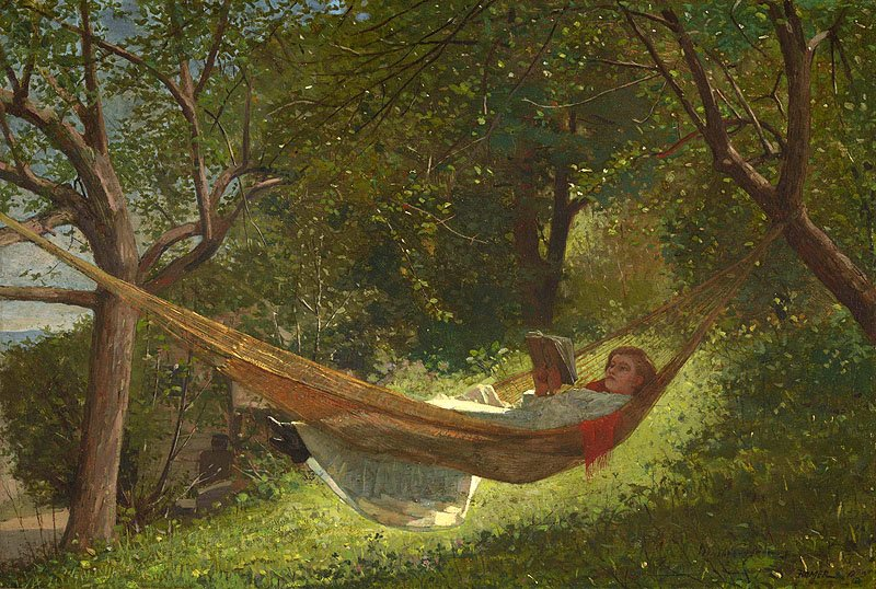 "Winslow Homer, ""Girl in a Hammock"" (1873), oil on canvas"
