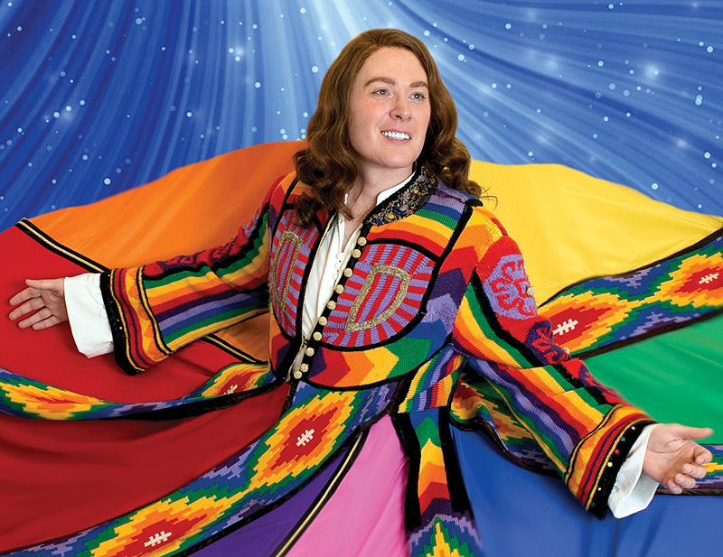 "Clay Aiken says he likes ""working with a group of peers"" in ""Joseph and the Amazing Technicolor Dreamcoat"" at the Ogunquit Playhouse."