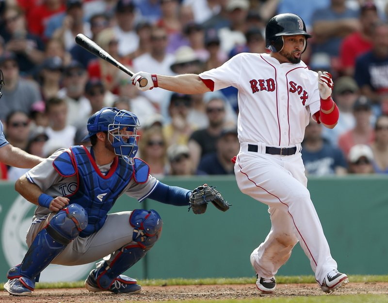 Shane Victorino did what he was supposed to do – put the ball in play – and his hard-hit, ninth-inning ground ball resulted in an error that allowed the winning run in Boston's 5-4 win over Toronto at Fenway Park on Sunday.