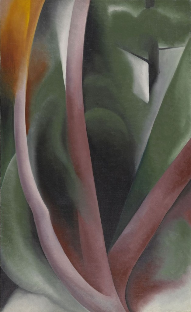 "Georgia O'Keeffe, ""Birch and Pine"" (1925), oil on canvas"