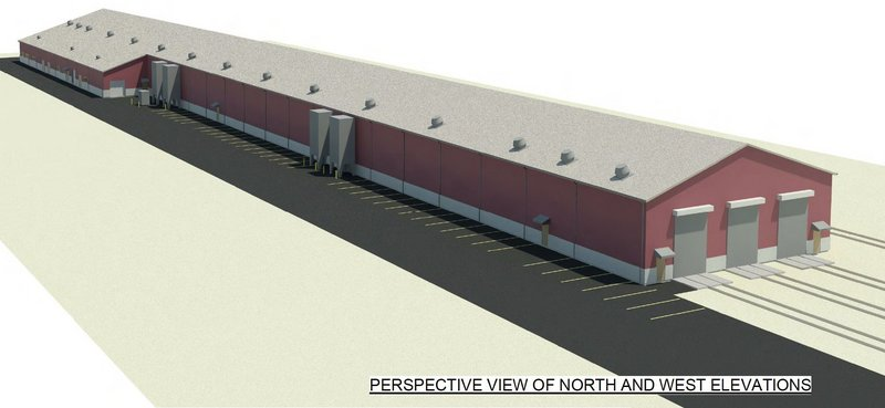 This is a rendering of a proposed train layover facility to be built in Brunswick for the Downeaster train service.