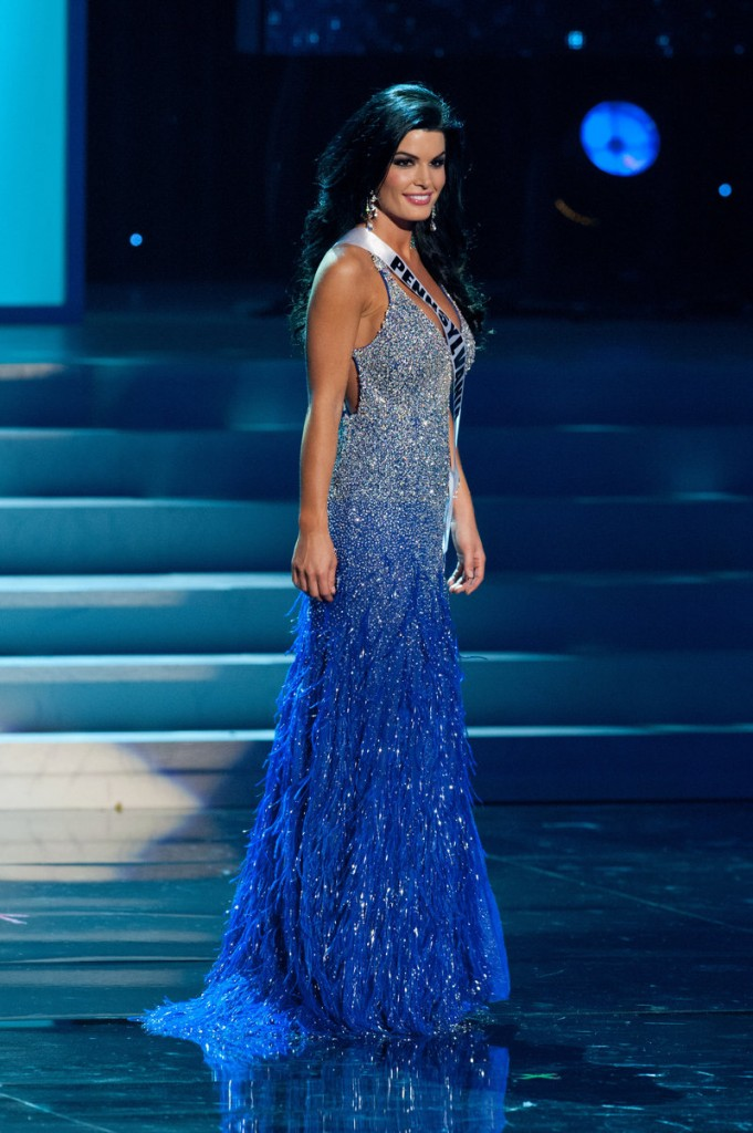 Miss Pennsylvania Sheena Monnin competes during the 2012 Miss USA pageant in Las Vegas.