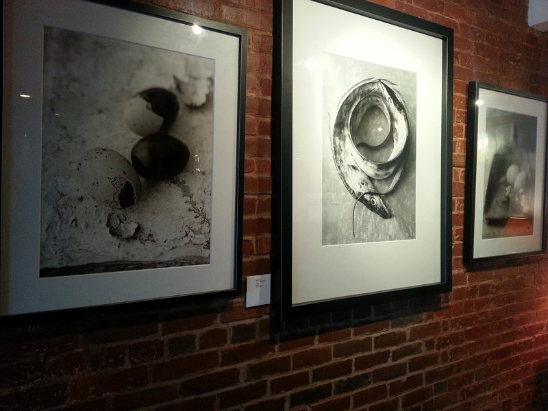 Art on display in the Salt Exchange.