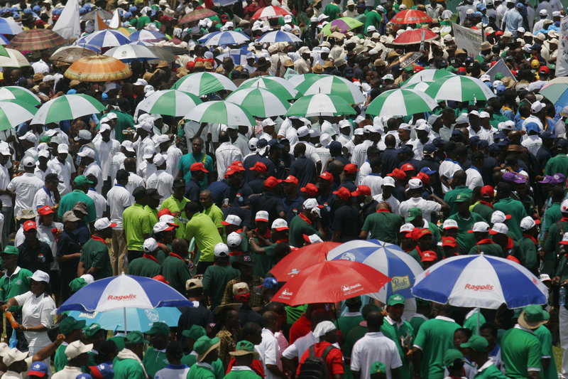As Nigerian labor unions celebrate a worker's day in Lagos, there are concerns about population growth. Demographers say Nigeria's population may equal China's by 2100.