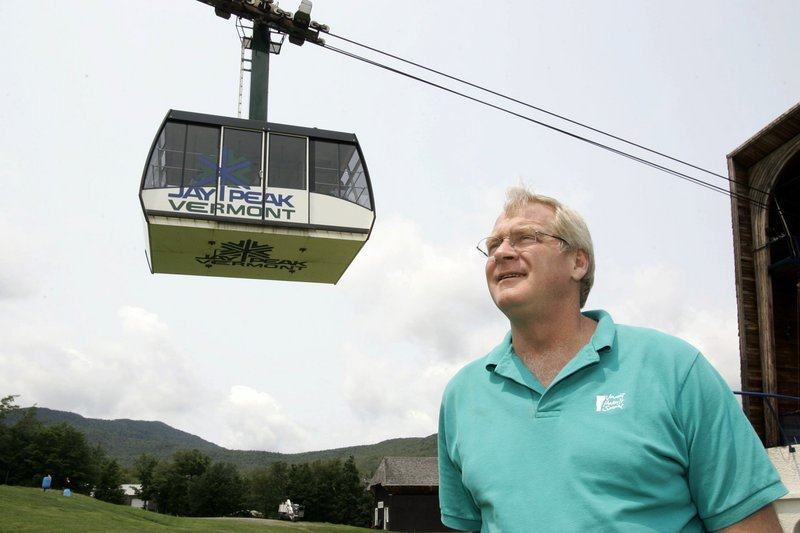 In this July 7, 2006 file photo, Jay Peak president Bill Stenger stands at the resort in Jay, Vt. The Vermont ski area near the Canadian border is willing to pay the U.S. Homeland Security Department to ensure there are enough customs agents at the border on weekends so that Canadian skiers don't have to wait. It's part of a pilot program taking place at certain ports of entry around the country. (AP Photo/Alden Pellett)