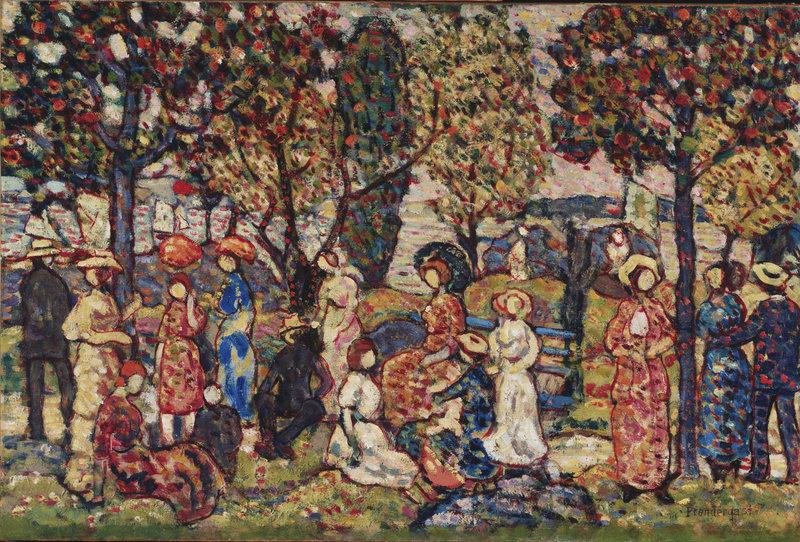 """""""Autumn,"""" ca. 1917-18, by Maurice Prendergast"""