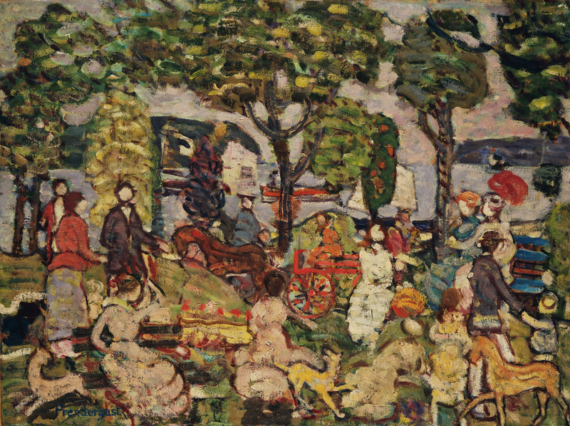 """Sunday Promenade,"" c. 1914-15, by Maurice Prendergast"