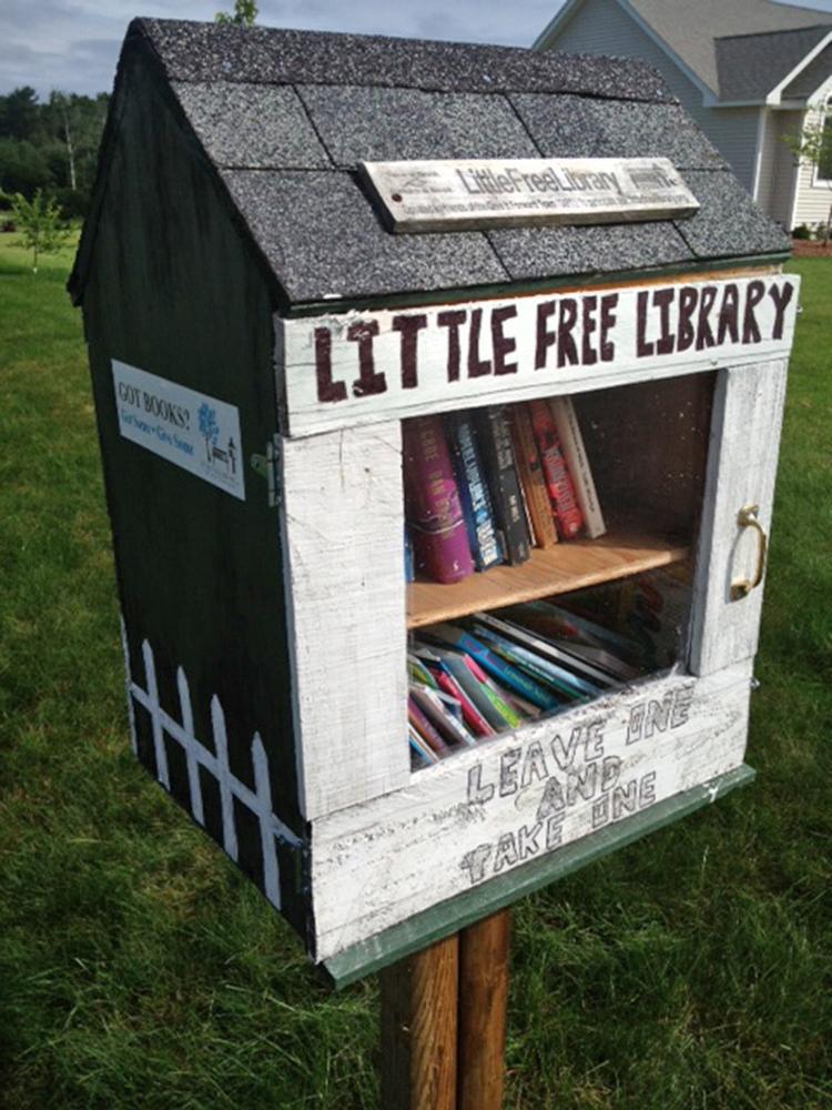 Jon Woodcock's library in Saco awaits borrowers and donors.