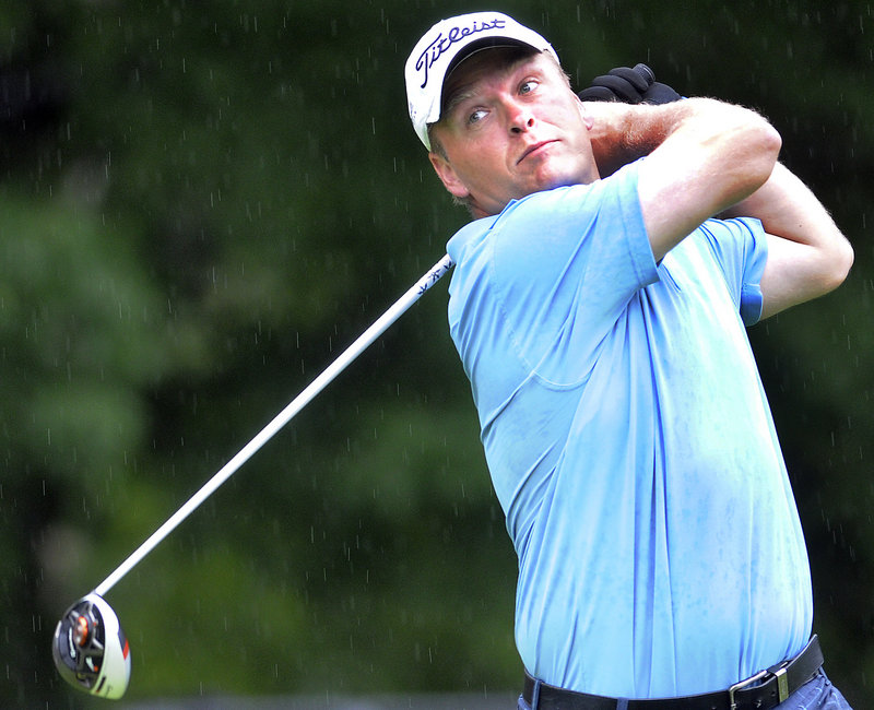 Ricky Jones, who carried a six-shot lead into the final round of the Maine Amateur, only needed a consistent day Thursday and got it, shooting a 71 and winning the tournament by two shots over the onrushing Tommy Stirling at Augusta Country Club. It was the third Maine Amateur title for Jones.