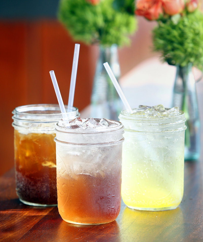 Craft sodas at Duckfat in Portland include Wild Cherry Phosphate, middle; Roots, Bark, Sticks and Leaves, left; and Orange Crush.
