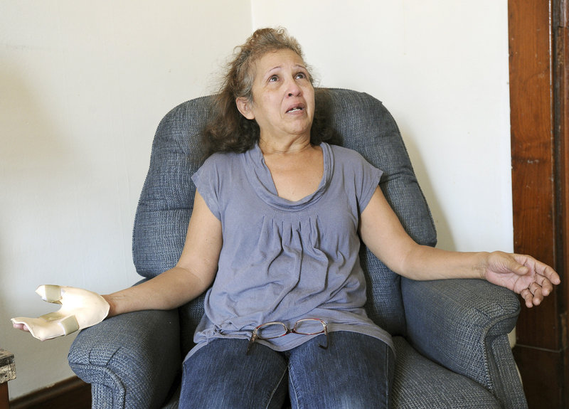 Adriana Garcia escaped the April 29 fire despite a broken leg, but lost everything. She has received a lot of help since then, and says she feels blessed in her new home. Her hand injury was not related to the fire.