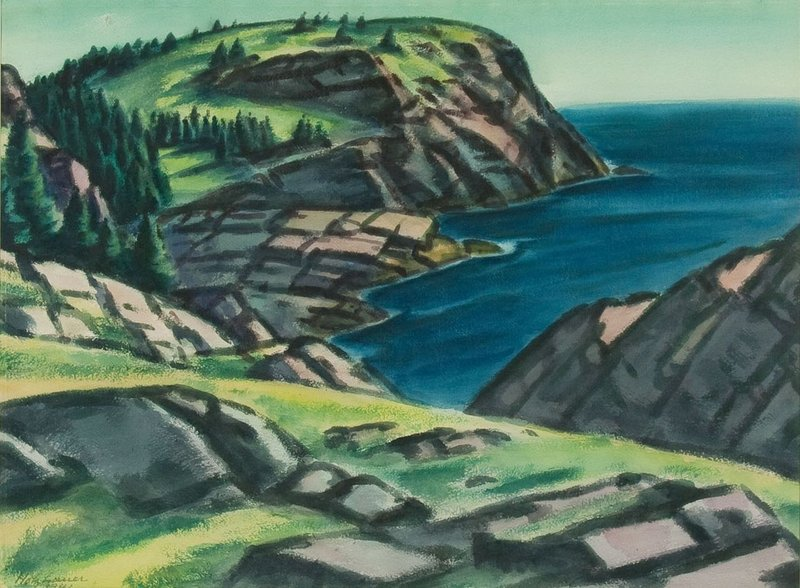 """""""Whitehead"""" by Emil Holzhauer, one of the Monhegan artists influenced by the groundbreaking Armory Show of 1913."""