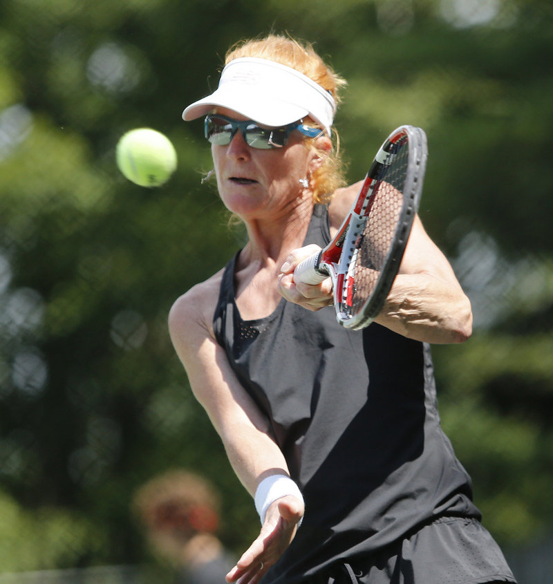 Cornelia Deeg uses a veteran's savvy and position play to frustrate hard-hitting schoolgirl Olivia Leavitt in the women's final.
