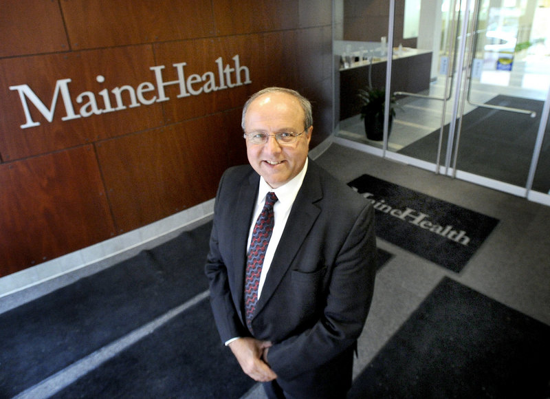 """William Caron, CEO of MaineHealth: """"We are changing the way care is being provided on the (Boothbay) peninsula, and it's going to be the best care in the state of Maine when we're done."""""""