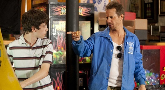 """Liam James and Sam Rockwell in """"The Way, Way Back."""""""
