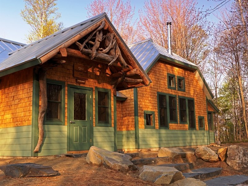 The huts of the Maine Trails and Huts system serve as a base for a variety of outdoor activities, while providing such creature comforts as home-cooked meals and hot showers.