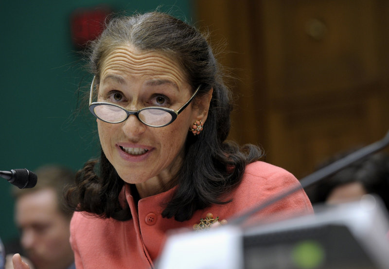 Food and Drug Administration Commissioner Margaret Hamburg testifies on Capitol Hill in 2012.