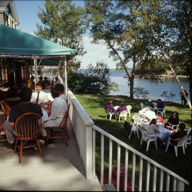 Diamond's Edge restaurant on Great Diamond Island in Casco Bay is reachable by Casco Bay Lines ferries.