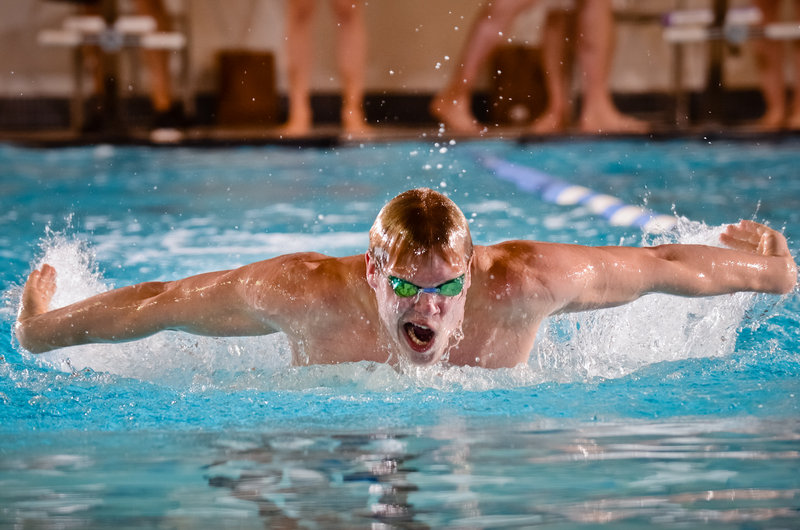 Adam Gaulin holds most of the breast stroke records for a St. Joseph's College swimming program that is less than 10 years old. Now his concentration will be on the military.