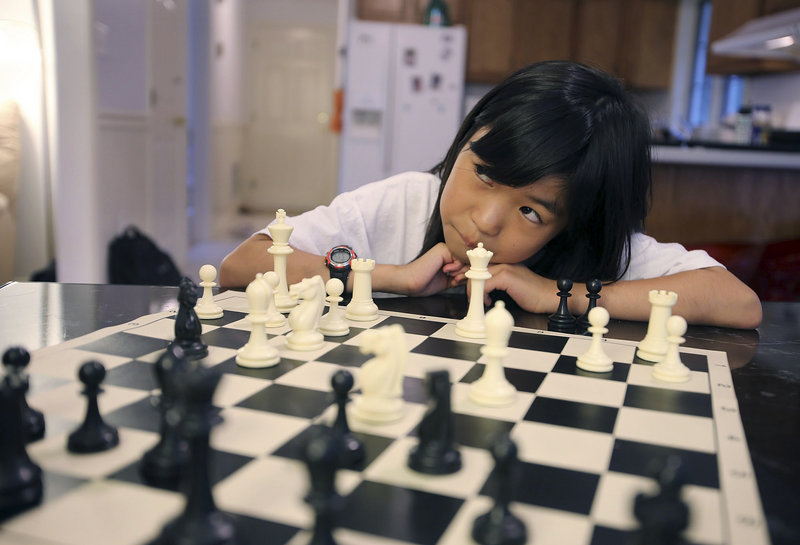 Carissa Yip of Chelmsford, Mass., 9, has been playing chess for only about three years.
