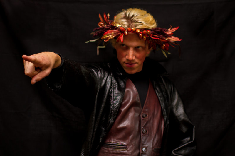 """Daniel Mahler portrays Oberon in the Harborside Shakespeare Company production of """"A Midsummer Night's Dream"""" at Mayo Street Arts in Portland Friday and Saturday."""
