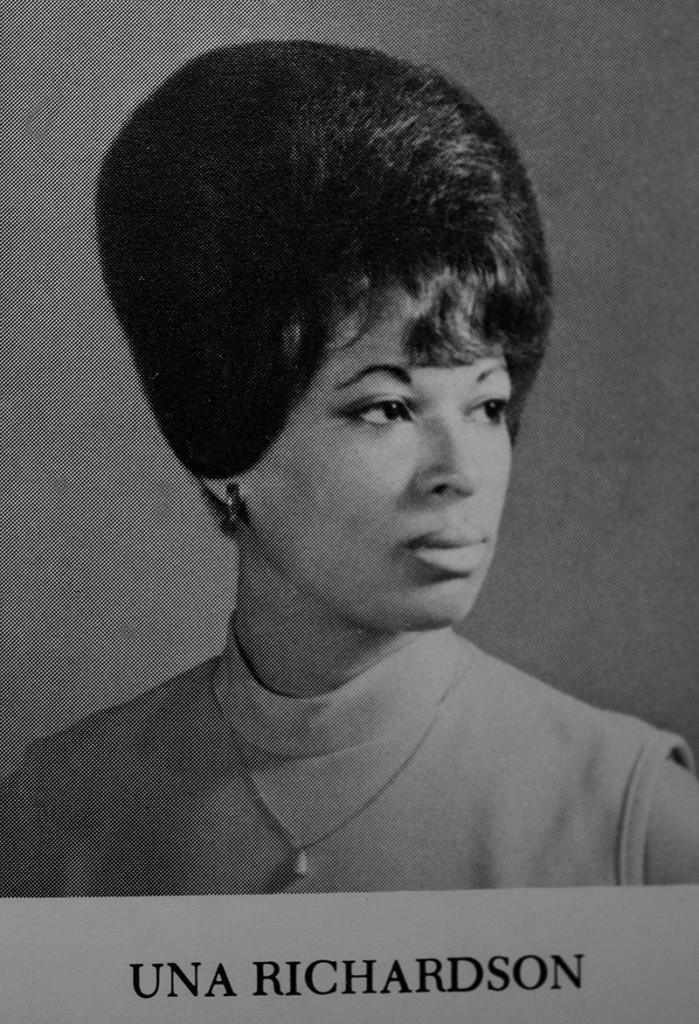 Una Richardson from her Deering High School 1971 yearbook. Una George