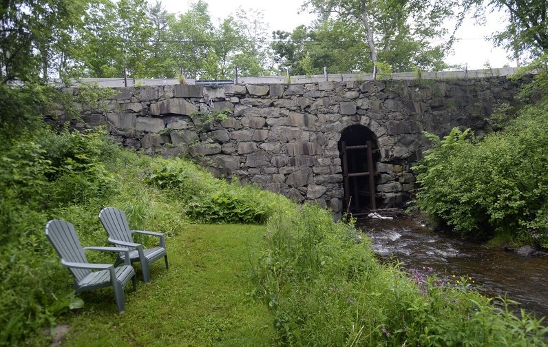 Stackpole Bridge on Simpson Road in Saco is on a list of Maine's most endangered historic properties.